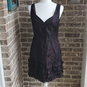 French Connection Black Acetate Ruffle Dress